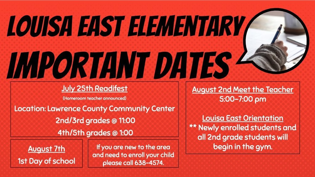 Louisa East Important Dates