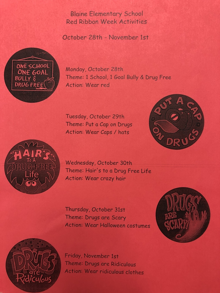 Red Ribbon Week activities.
