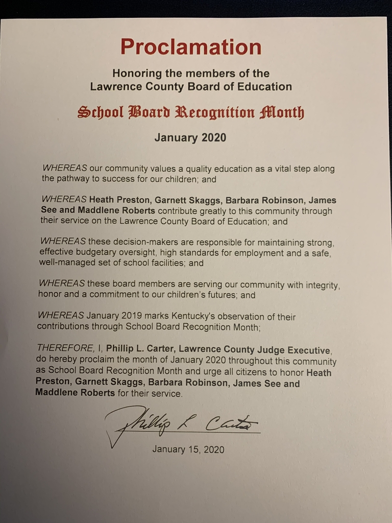 School Board Recognition Proclamation